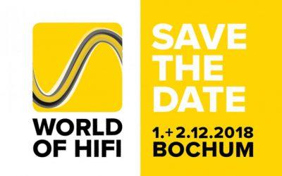 Besuchen Sie uns auf der World of HiFi in Bochum